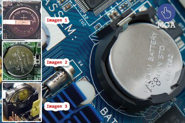 Batería CMOS, Función, reemplazo y tipos de zócalos